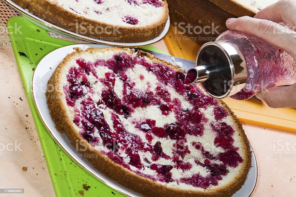 Impregnation home cake royalty-free stock photo