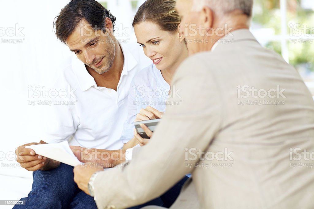 Impressed by our financial state royalty-free stock photo