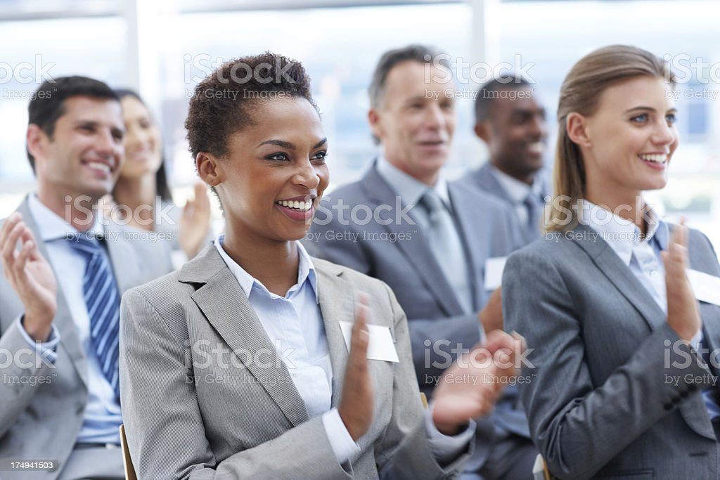 Impressed with the presentation royalty-free stock photo