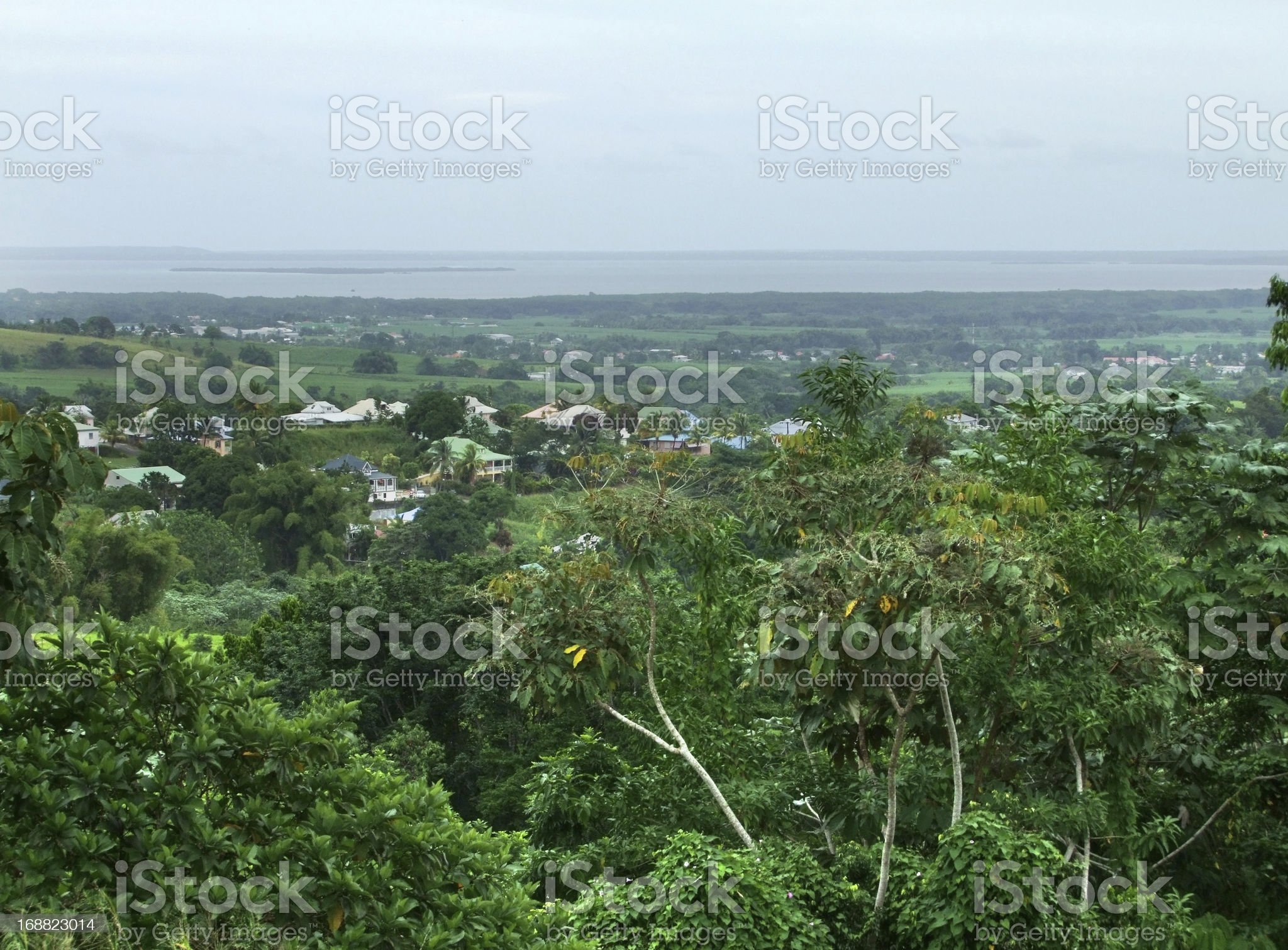 impression of Guadeloupe royalty-free stock photo