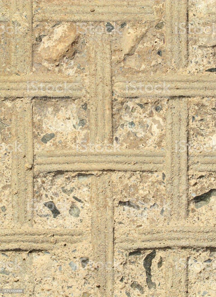 Impressions in concrete. stock photo