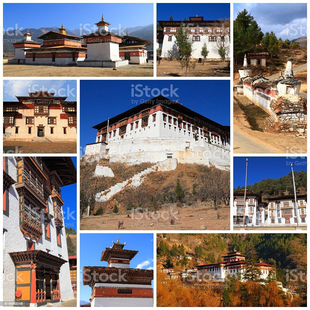 Impressions of Bhutan stock photo