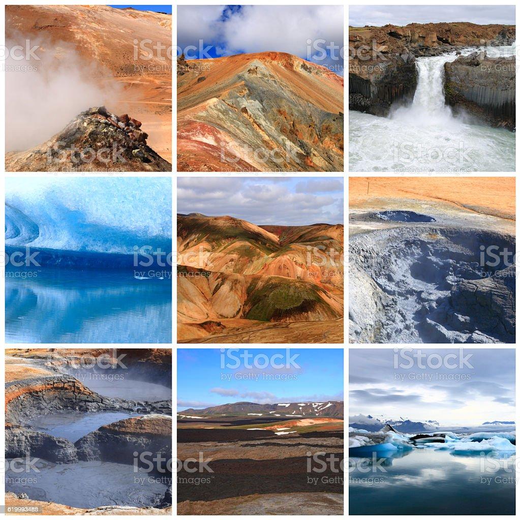 Impressions of Iceland stock photo