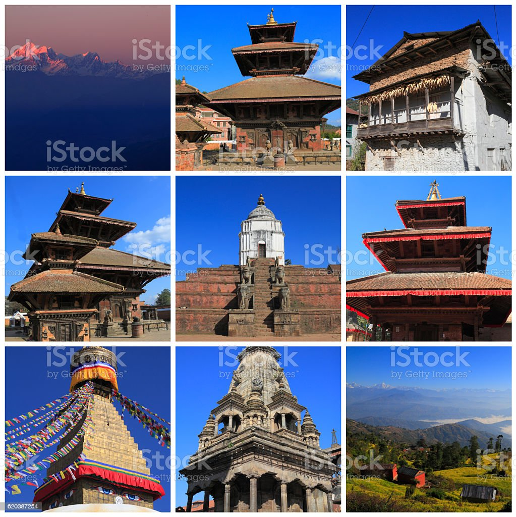 Impressions of Nepal stock photo