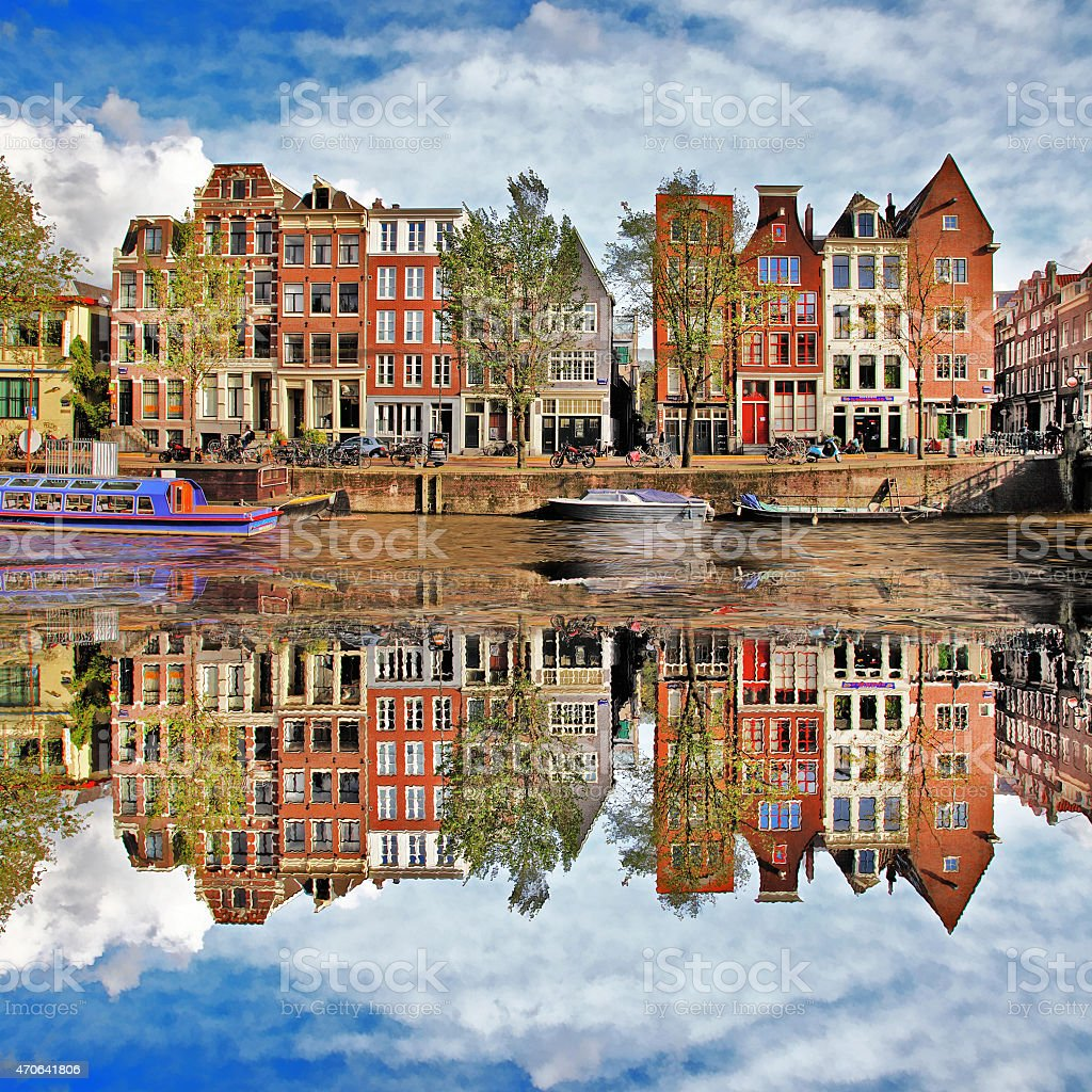 Impressive Amsterdam,Holland stock photo
