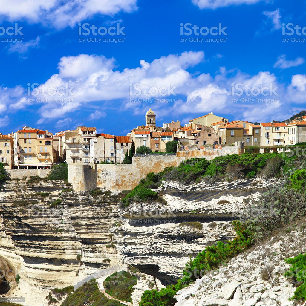 Impressive Bonifacio, Corsica,France stock photo