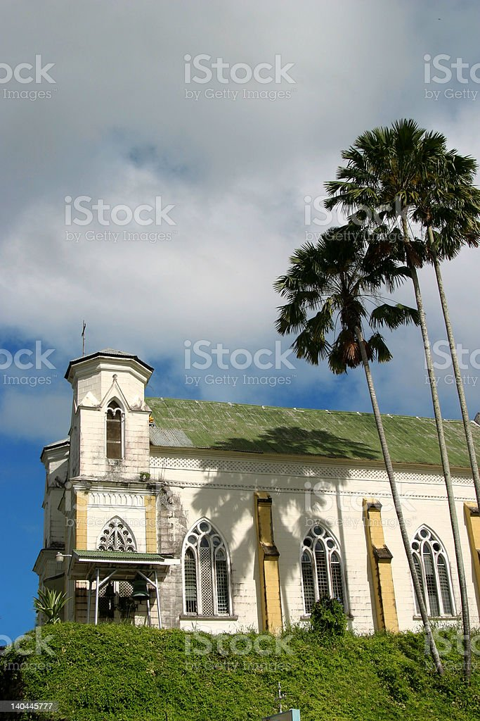 Impressive church in Trinidad, West Indies royalty-free stock photo