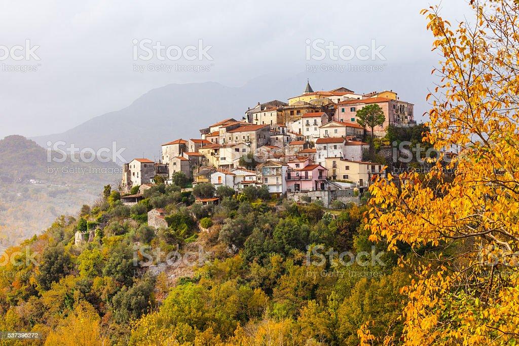 Impressive Colli Al Volturno,Beautiful Village In Molise,Italy. stock photo