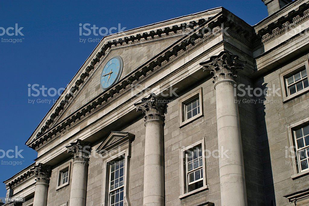 Impressive columned building stock photo