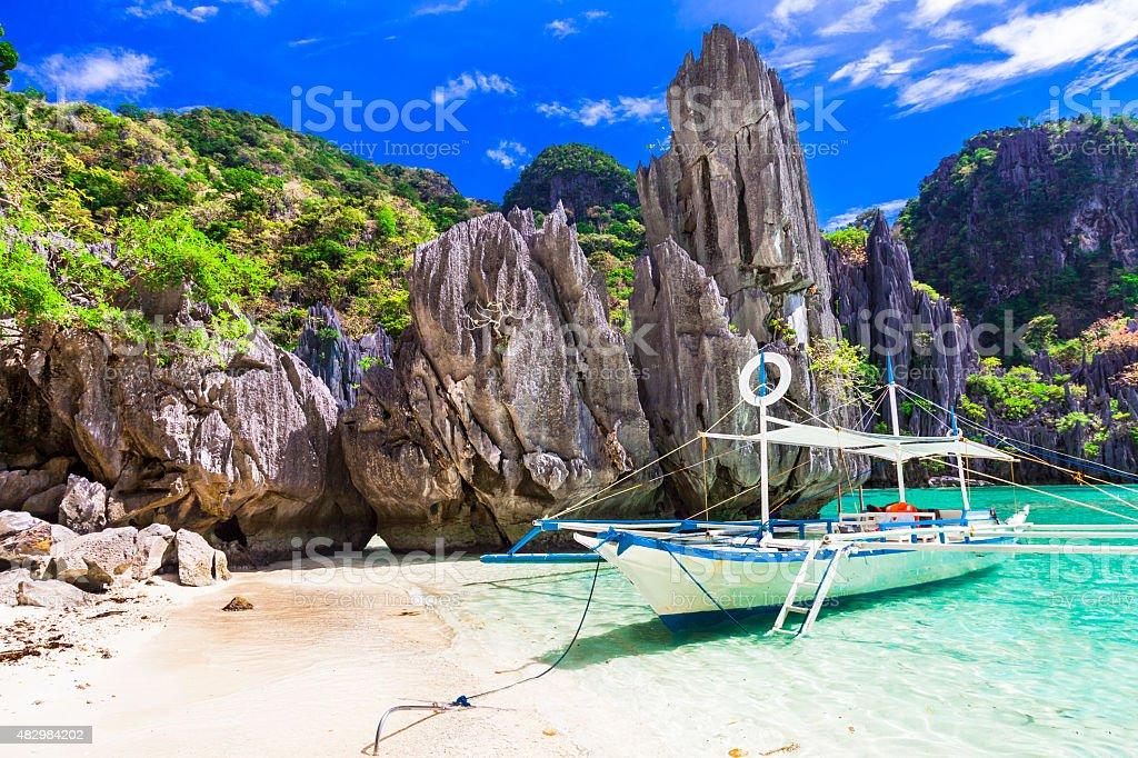 Impressive El Nido,Philippines. stock photo