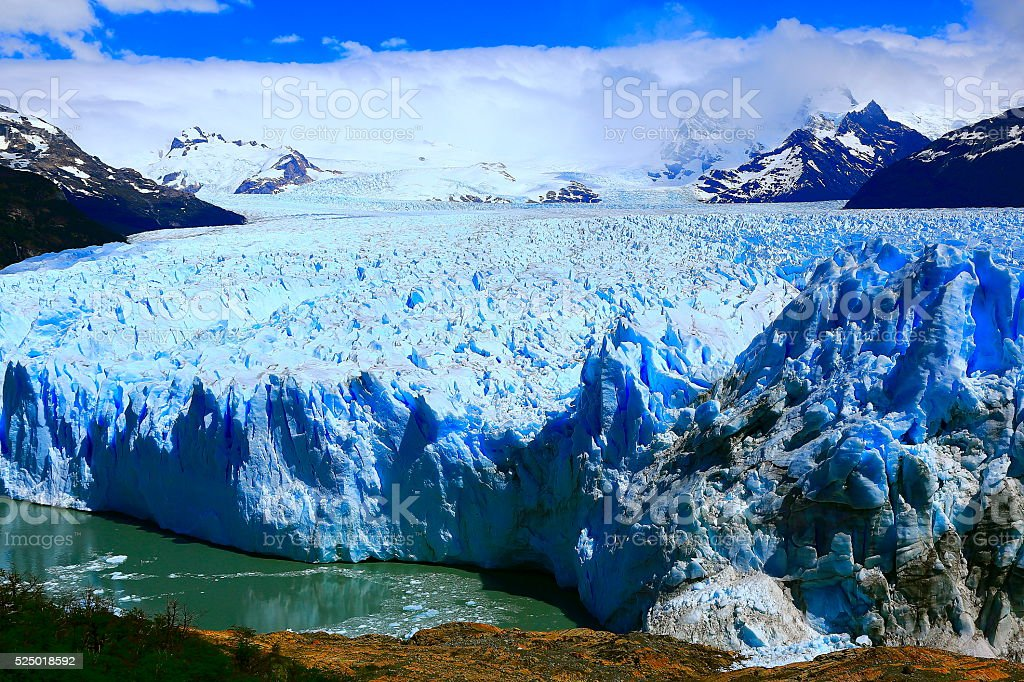 Impressive Glacier Perito Moreno, Patagonia Argentina, El Calafate stock photo