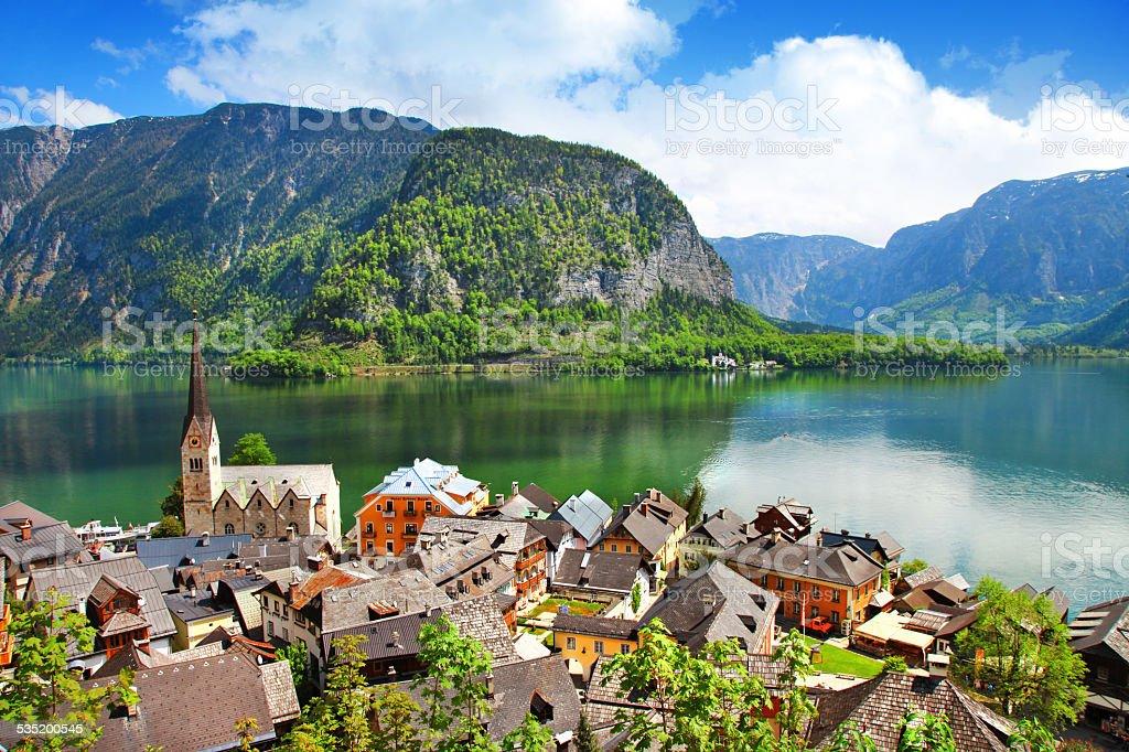 Impressive Hallstatt,Austria stock photo