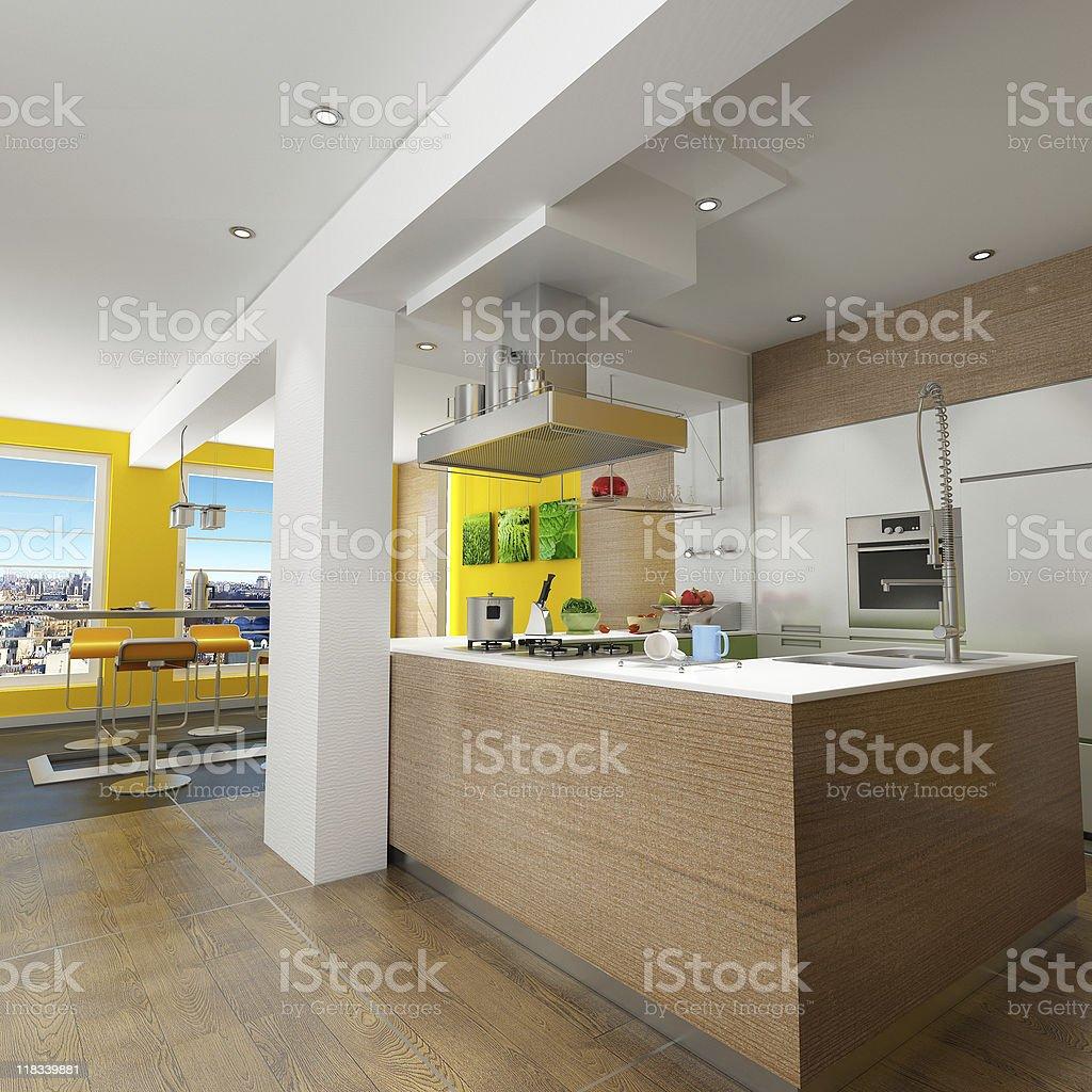 Impressive kitchen royalty-free stock photo