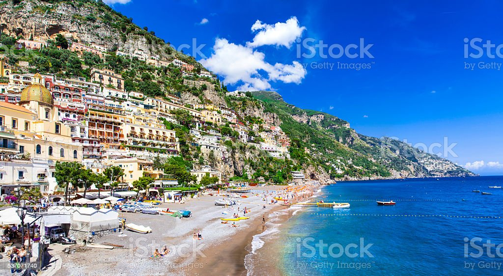 Impressive Positano,Campania,Italy. stock photo