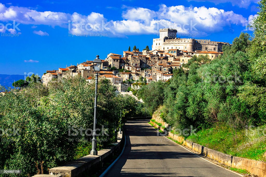 Impressive Sermoneta,Lazio,Italy. stock photo