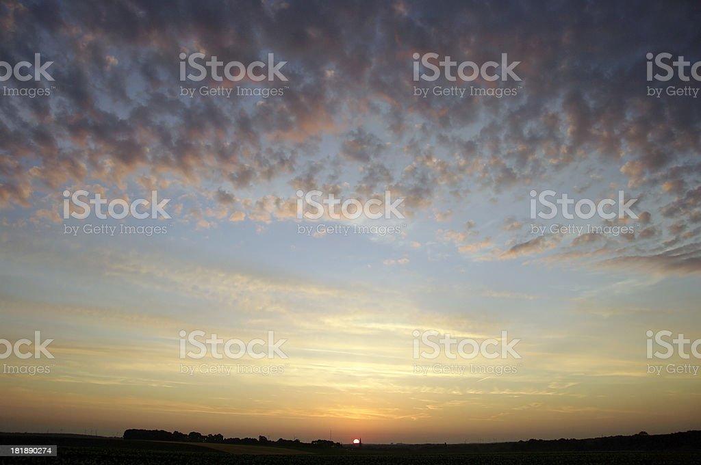 Impressive sunrise royalty-free stock photo