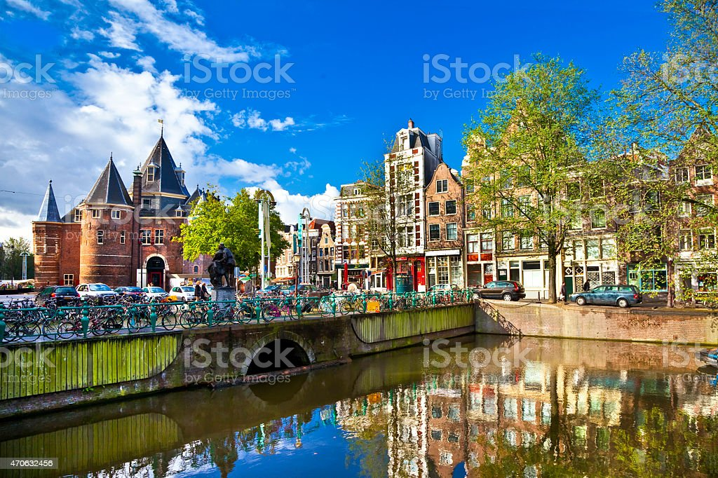 Impressssive Amsterdam,Netherlands. stock photo