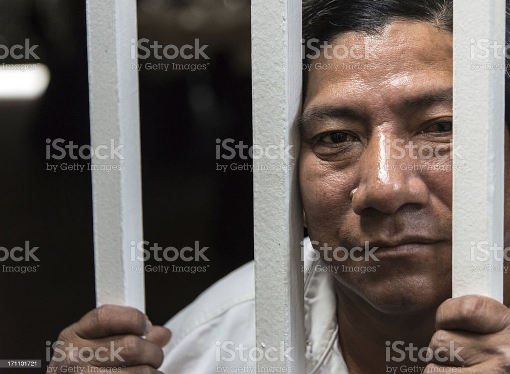 Imprisoned immigrant royalty-free stock photo