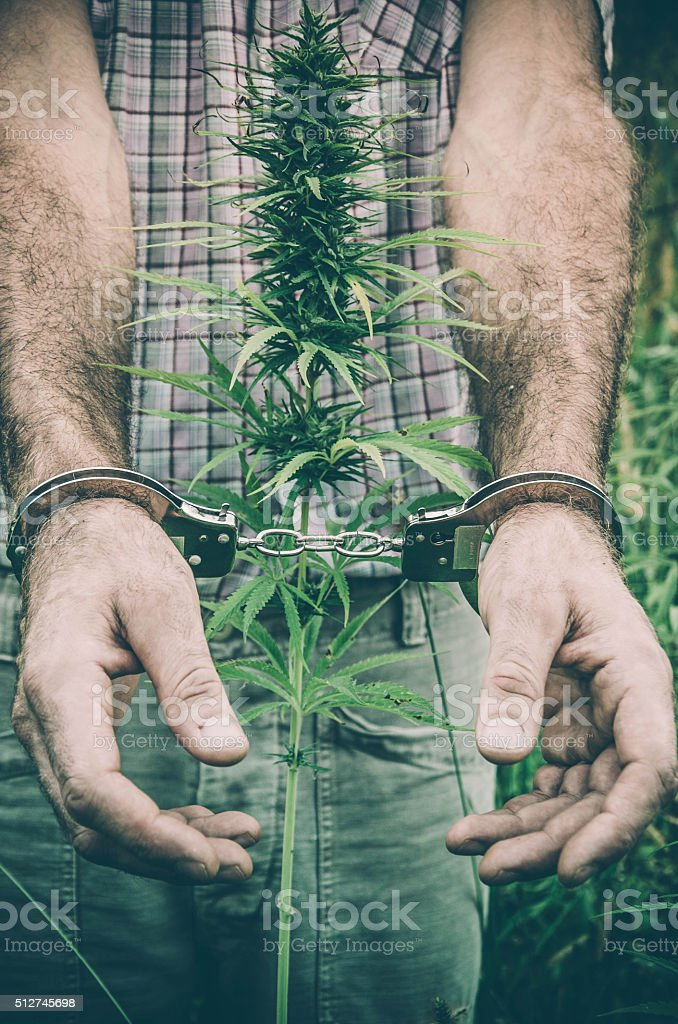 Imprisonment and drugs stock photo