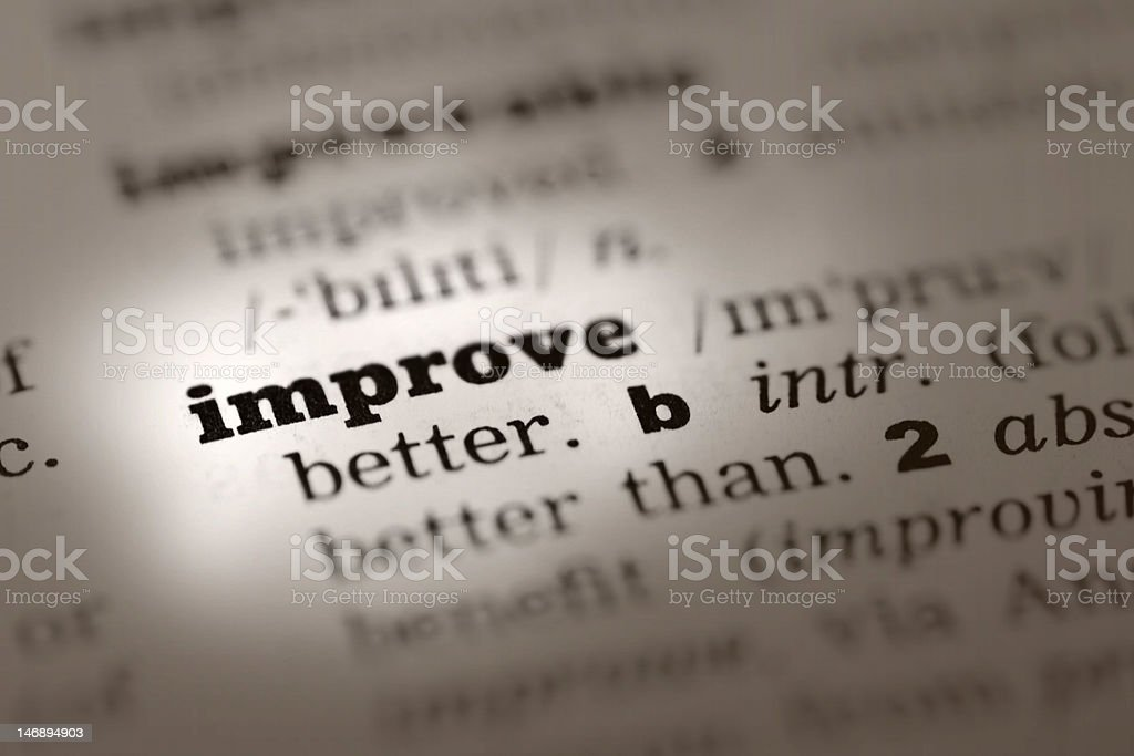 Improve -Dictionary Definition royalty-free stock photo