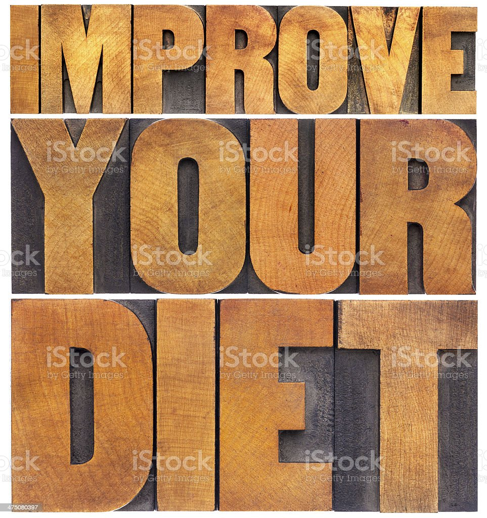 improve your diet royalty-free stock photo