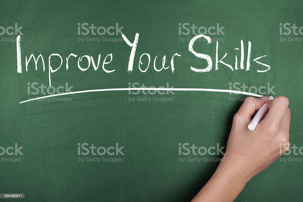 Improve Your Skills stock photo