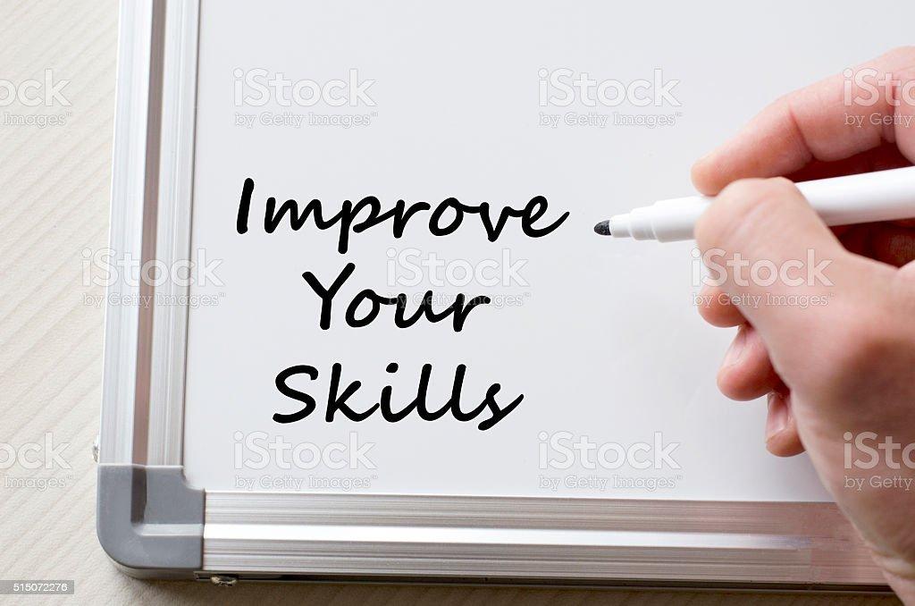 Improve your skills written on whiteboard stock photo
