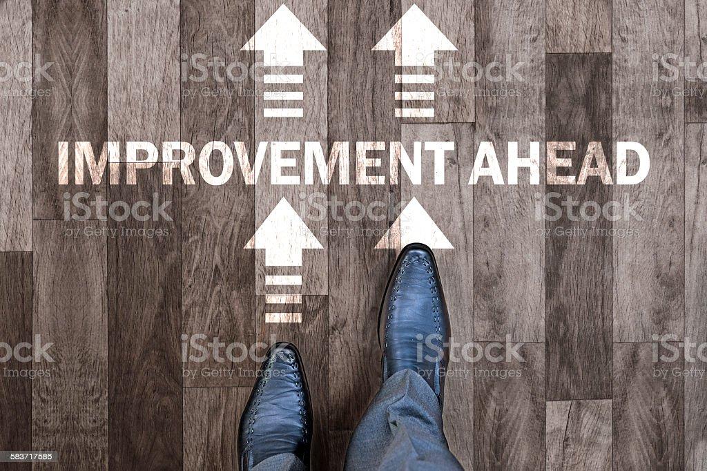 Improvement ahead stock photo