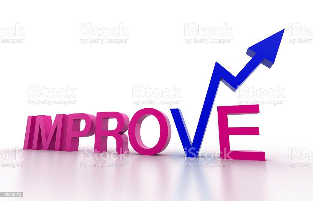 Improvement and progress (isolated on-white) royalty-free stock photo
