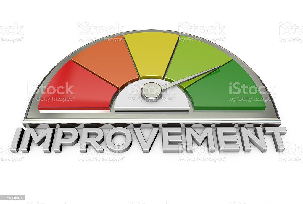 improvement chart stock photo
