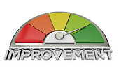 improvement chart stock photo