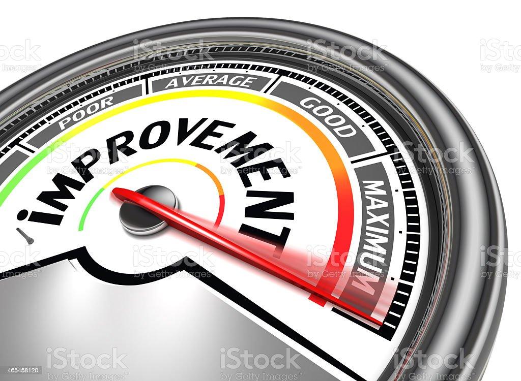 improvement conceptual meter stock photo