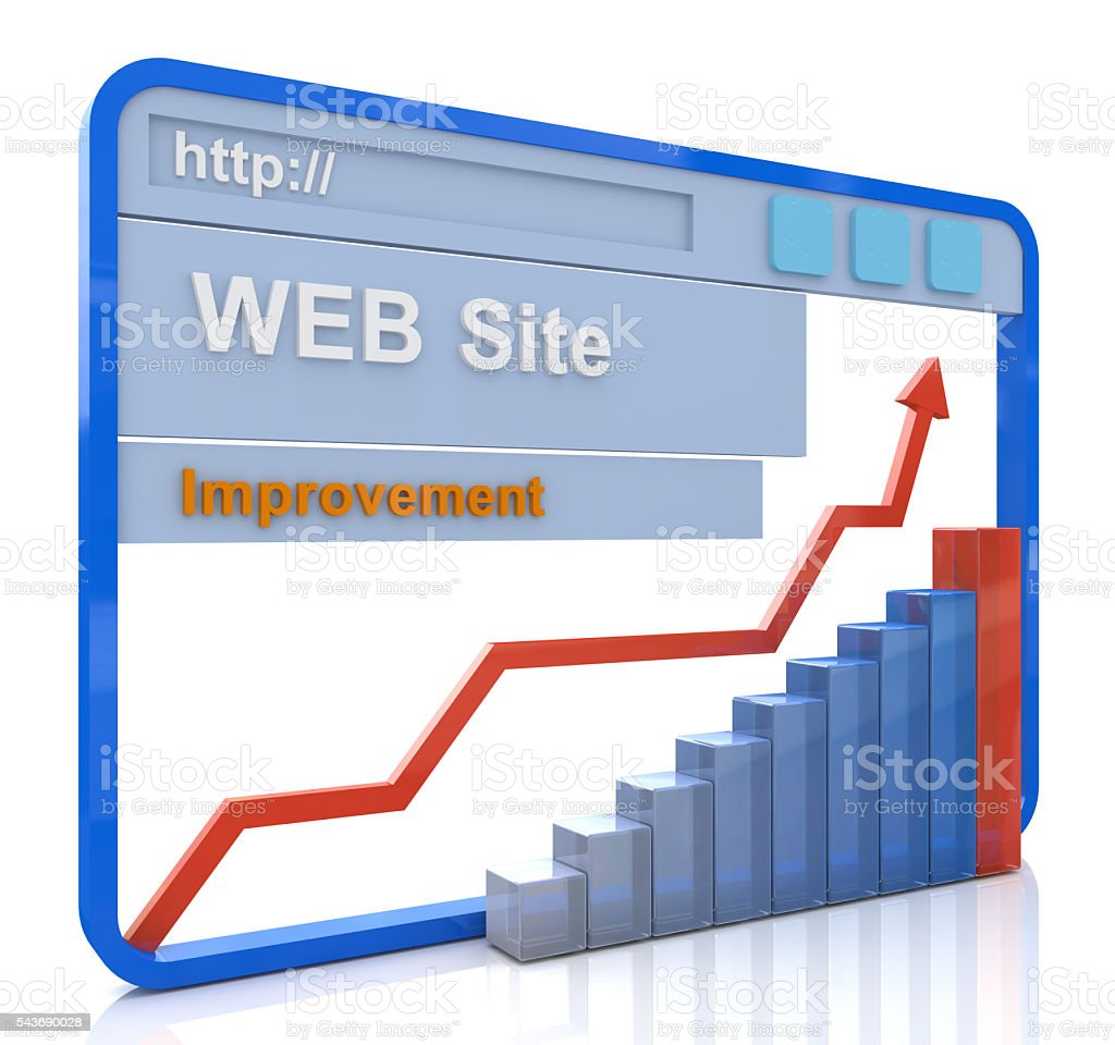 Improvement website concept, upgrading website to new generation stock photo