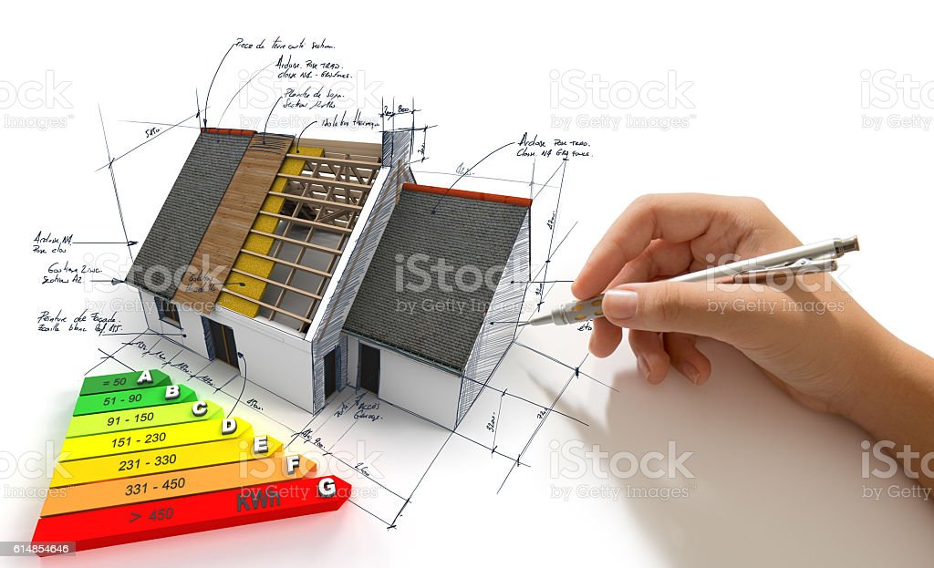 Improving energy efficiency stock photo