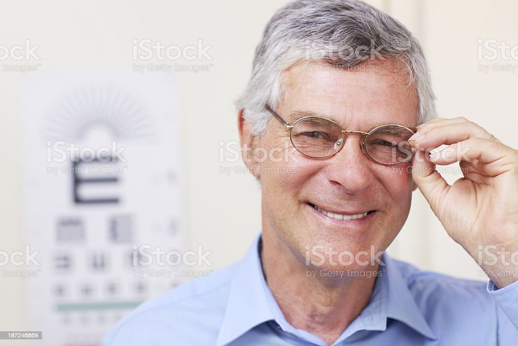 Improving his vision and quality of life royalty-free stock photo