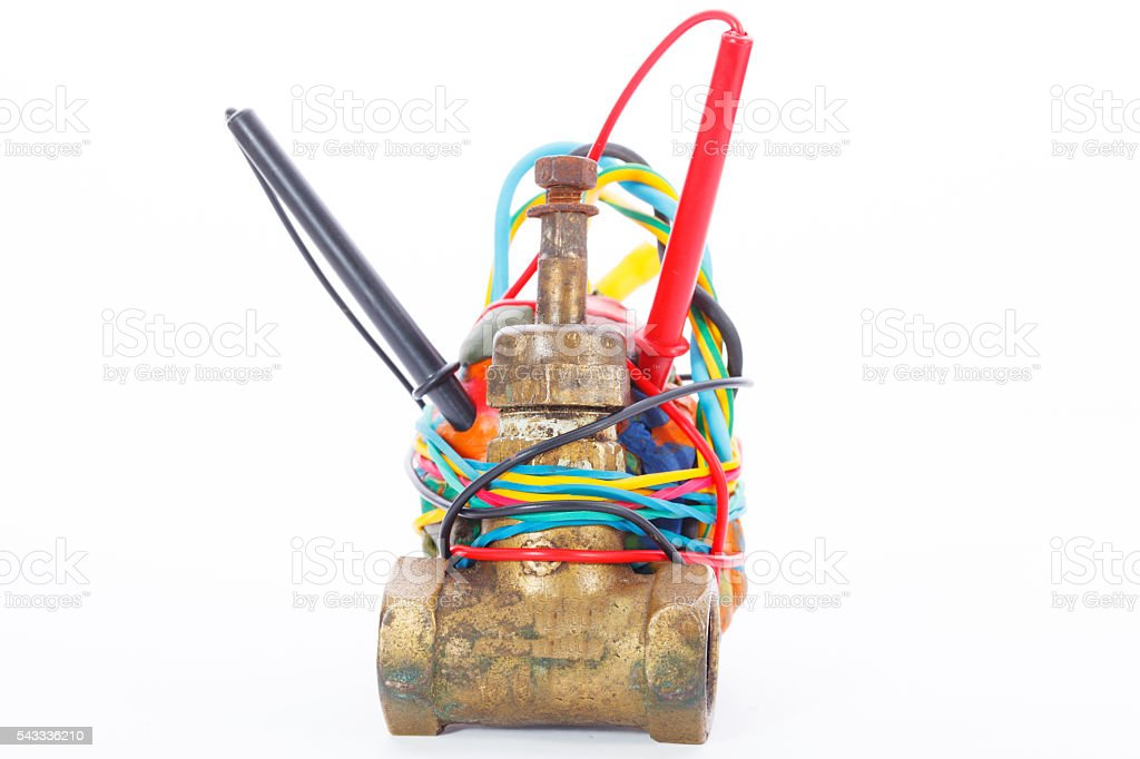 Improvised Explosive Device isolated on a white background stock photo