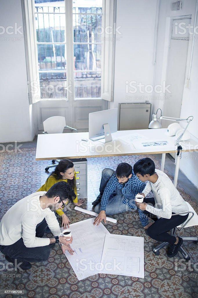 Improvised fisrt meeting royalty-free stock photo