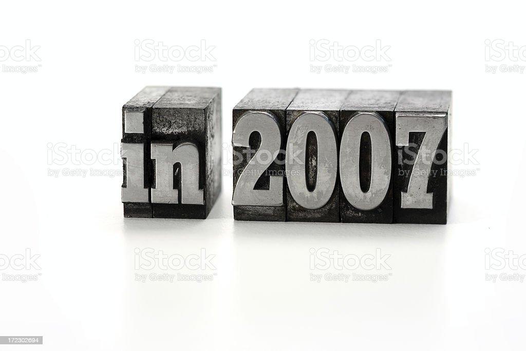 in 2007  letterpress royalty-free stock photo