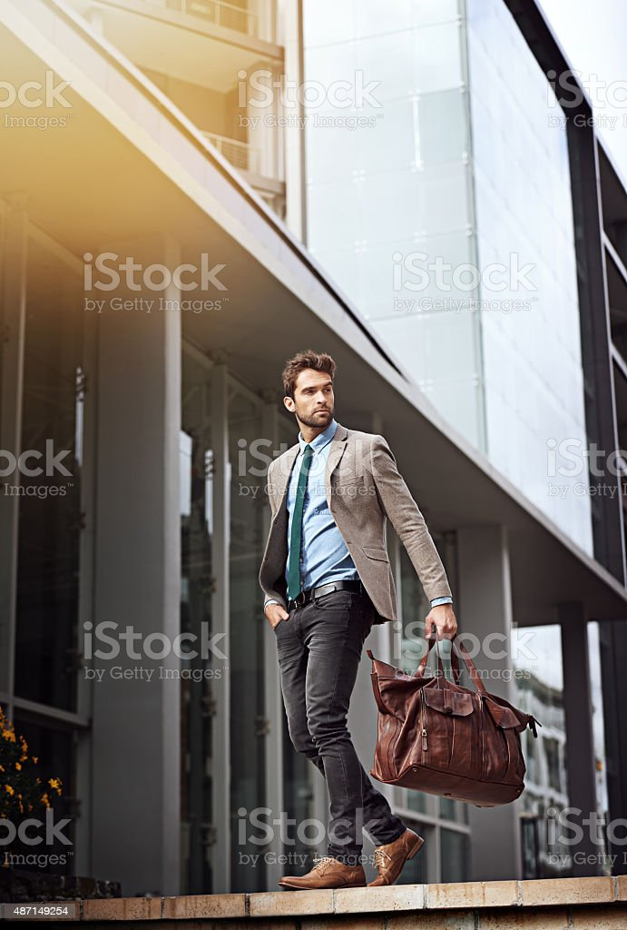 In a big city you need big success stock photo