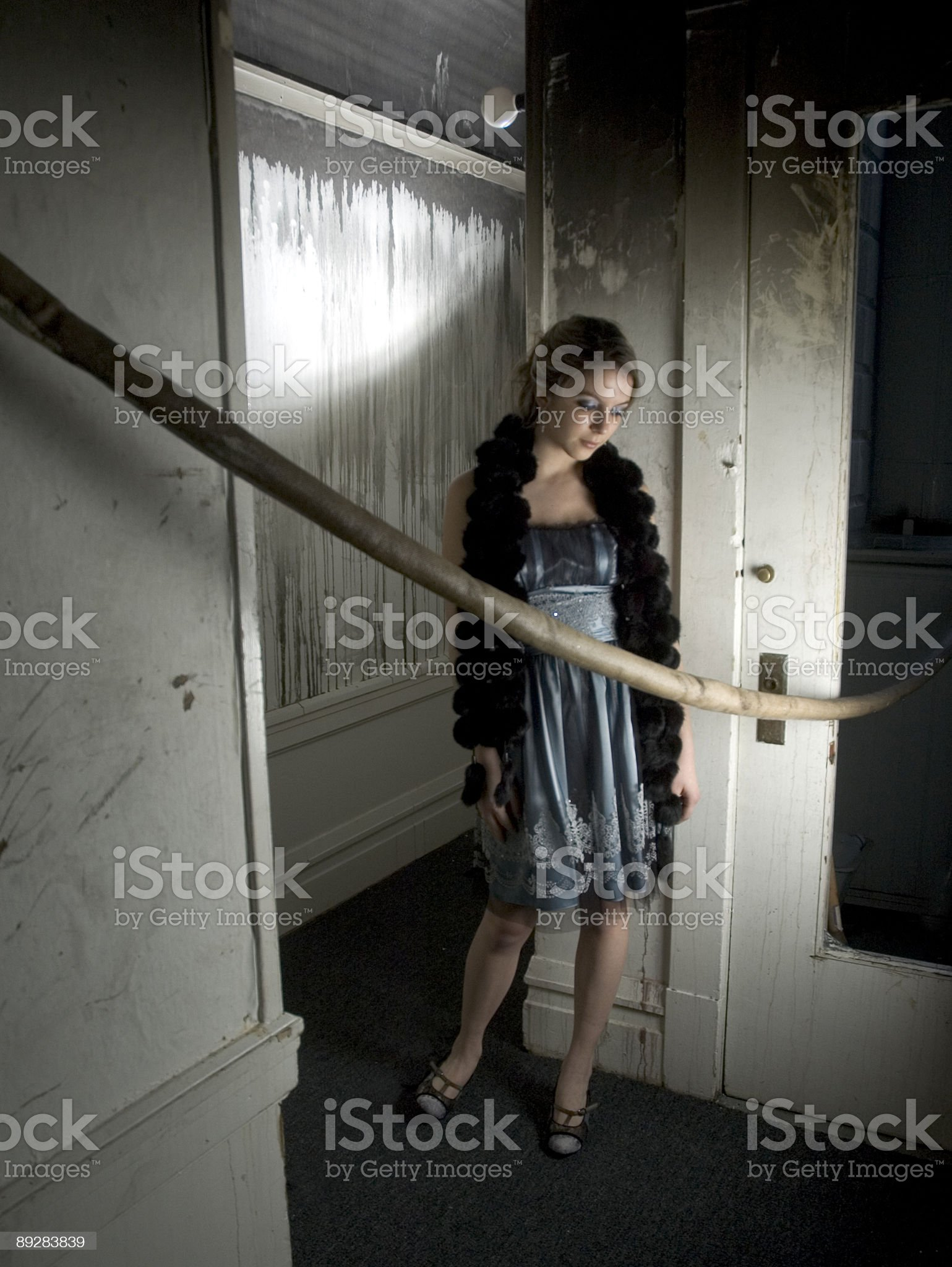 In a burnt apartment royalty-free stock photo