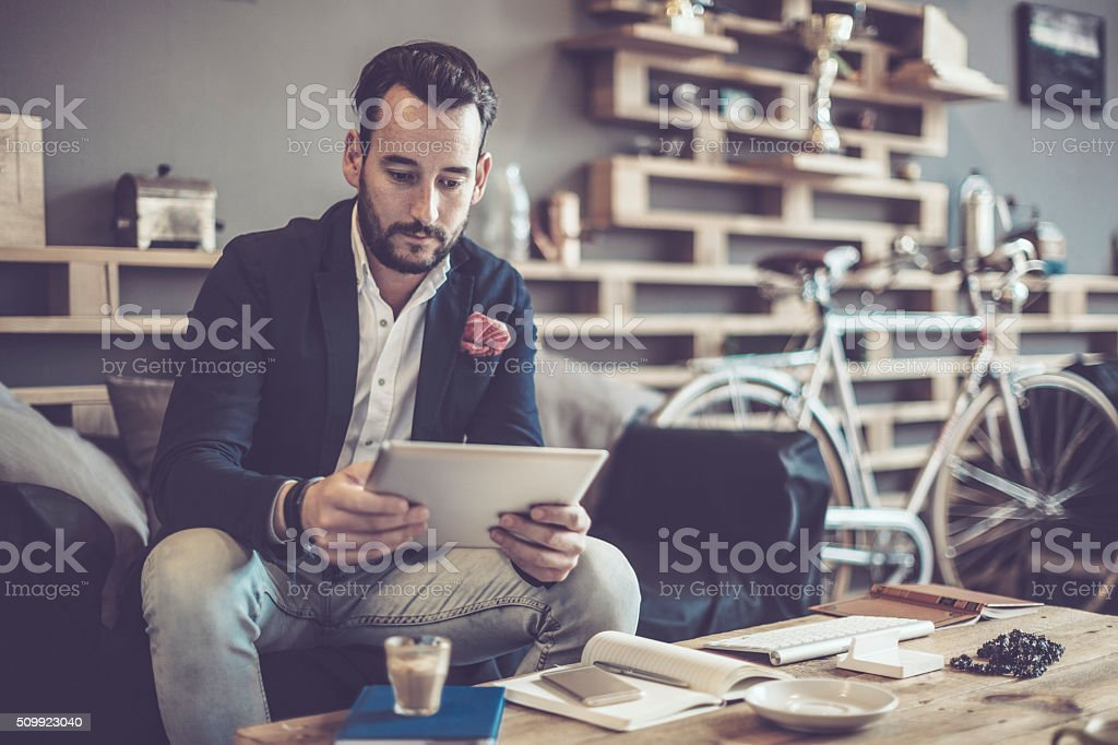 In a café stock photo