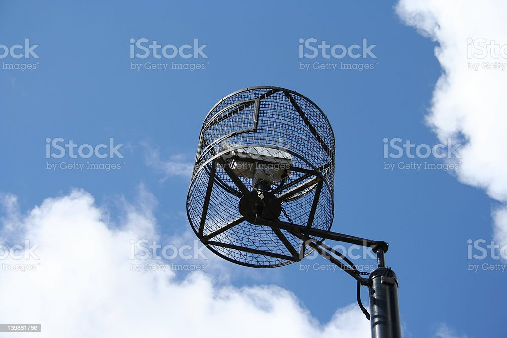 CCTV in a cage royalty-free stock photo