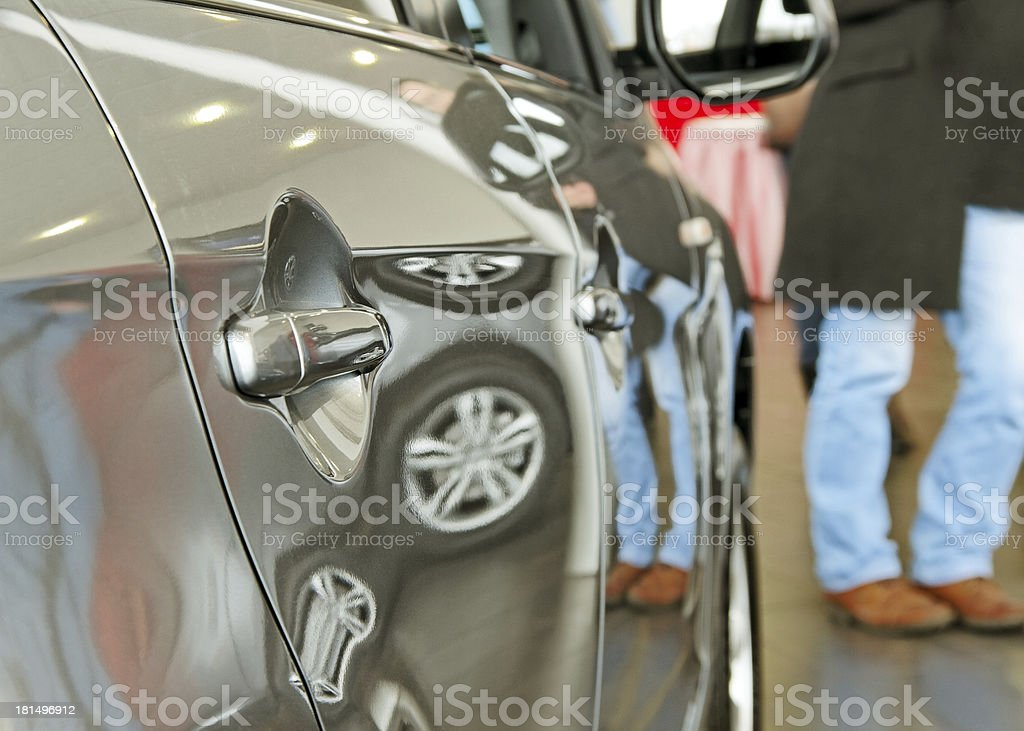 In a car shop. royalty-free stock photo