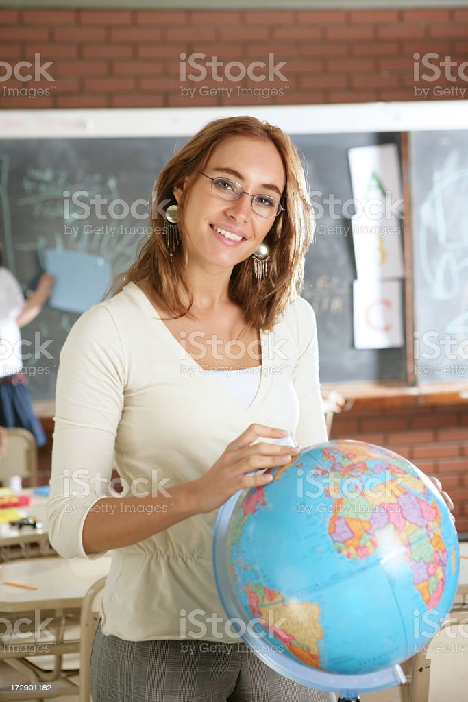 in a classroom stock photo