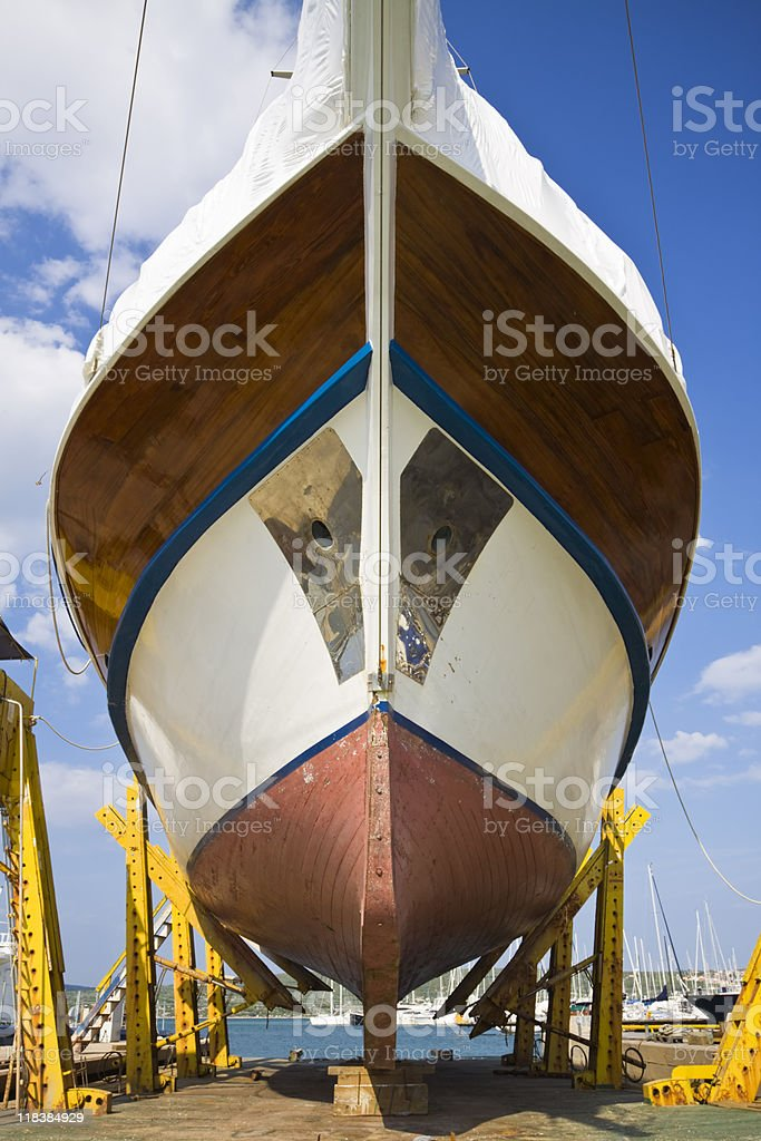 in a dry dock royalty-free stock photo
