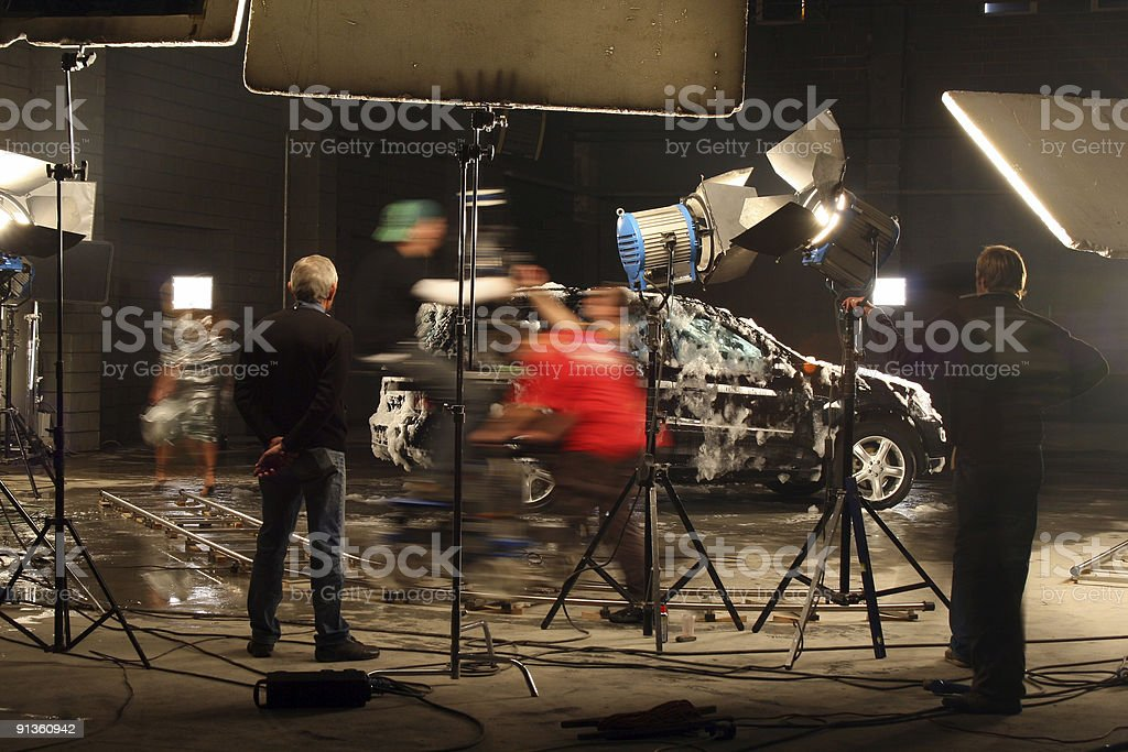 In a film studio stock photo