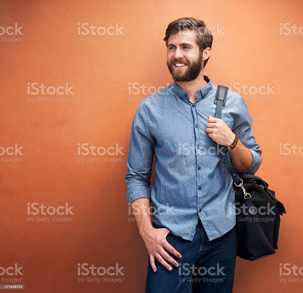 In a great mood today stock photo