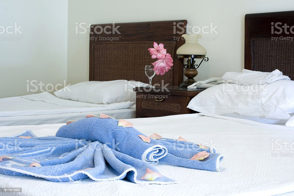 In a hotel room royalty-free stock photo
