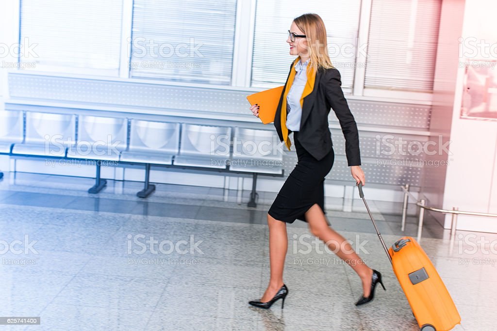 In a hurry stock photo