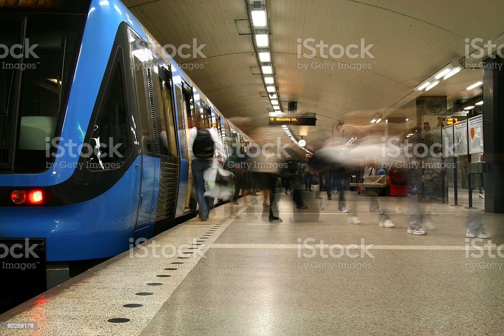 In a hurry royalty-free stock photo